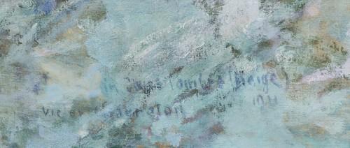 Paintings & Drawings  - Victor Charreton (1864-1937) - Le chemin dans l'ombre, neige, 1911