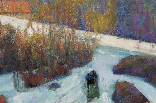 20th century - Victor Charreton (1864-1937) - Le chemin dans l'ombre, neige, 1911