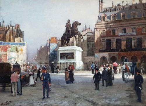 Felix Possart (1837 - 1928) - The Place des Victoires in Paris