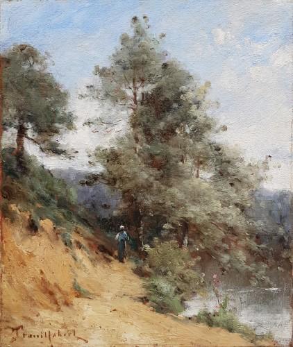 Paul-Désiré Trouillebert - Peasant Woman along a river