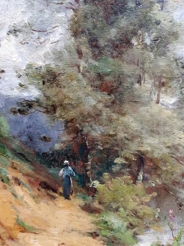 Paul-Désiré Trouillebert - Peasant Woman along a river - Paintings & Drawings Style