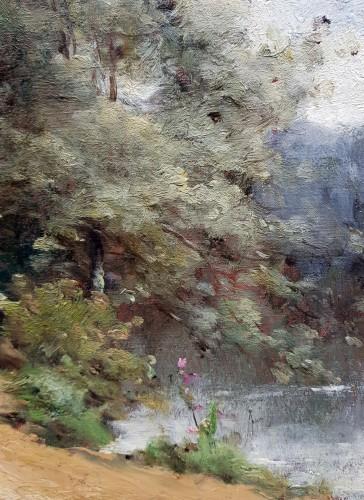 Paintings & Drawings  - Paul-Désiré Trouillebert - Peasant Woman along a river