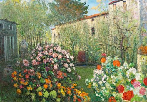 Victor Charreton (1864 -1937), Awakening, Dawn in the garden