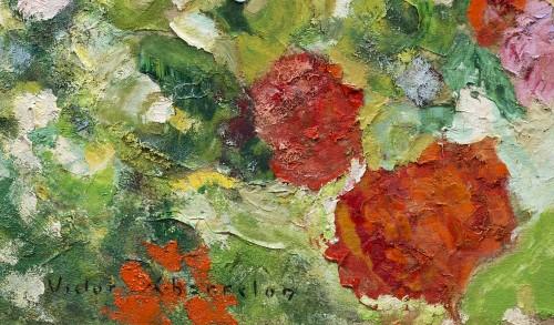 Victor Charreton (1864 -1937), Awakening, Dawn in the garden - Paintings & Drawings Style