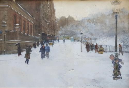 Luigi Loir (1845 - 1916) - Paris under the snow