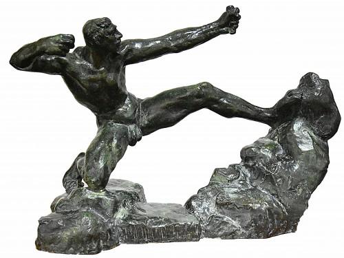 Herakles Archer, second study (study without arch), 1906-1909, cast in 1967 - Antoine BOURDELLE (1861-1929)
