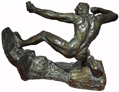 Herakles Archer, second study (study without arch), 1906-1909, cast in 1967 - Antoine BOURDELLE (1861-1929) - Sculpture Style 50