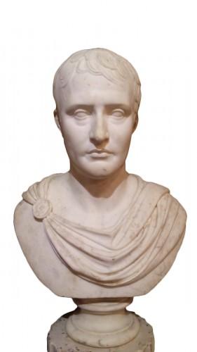 French Emperor Napoleon Bonaparte Marble Bust Statue