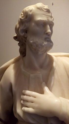 Marble statue of San Giuseppe -