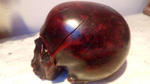 Wooden memento mori, Italy 17th century -
