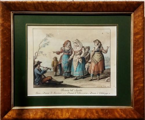 Naples aquarelle -Saverio della Gatta (1758-1828)