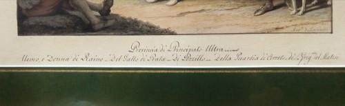 Paintings & Drawings  - Aquarelle Naples - Saverio della Gatta (1758-1828)