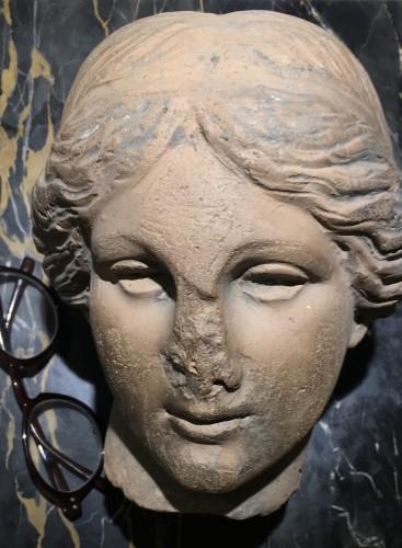 Cnide Aphrodite terra cotta antique head - Ancient Art & Antiquities Style