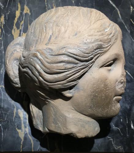Ancient Art & Antiquities  - Cnide Aphrodite terra cotta antique head