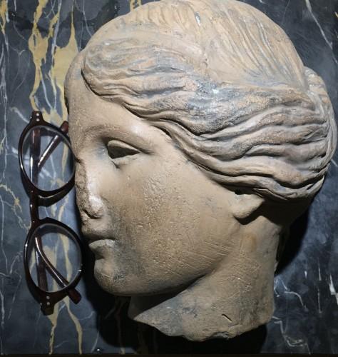Cnide Aphrodite terra cotta antique head -