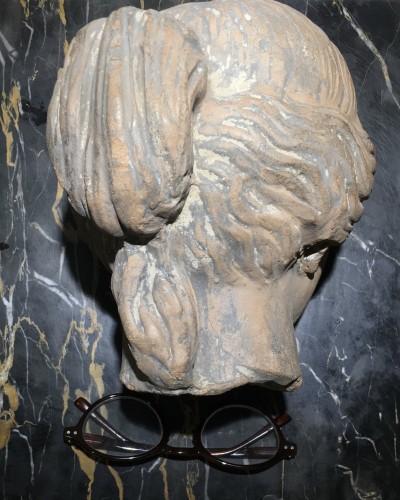 <= 16th century - Cnide Aphrodite terra cotta antique head
