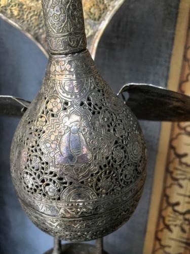 Napoléon III - Perfume-burner paire shaped as a peacock. Iran, Qajar