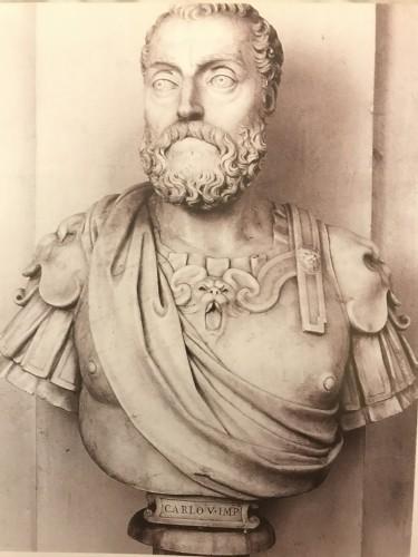 Renaissance - August renaissance wooden  buste