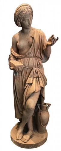 Statue en terre cuite néoclassique