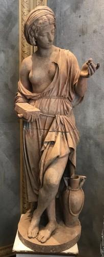 Sculpture  - Statue en terre cuite néoclassique