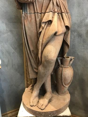 Statue en terre cuite néoclassique -