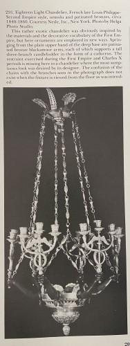 Lighting  - Empire style bronze chandelier