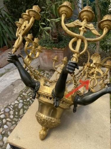 Empire style bronze chandelier  - Louis-Philippe