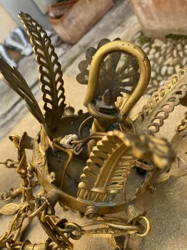 Antiquités - Empire style bronze chandelier