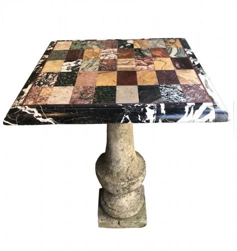 Pietra dura marble top