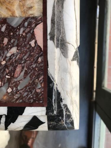 Pietra dura marble top  -