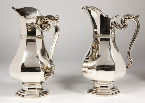 Silversmith Keller - Pair of silver pitcher - Art Deco
