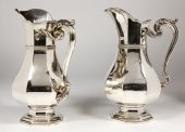 Silversmith Keller - Pair of silver pitcher - Art Deco
