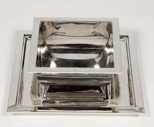 Antique Silver  - Silver sauceboat Art Deco by Tétard Frères