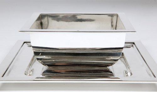 Silver sauceboat Art Deco by Tétard Frères -