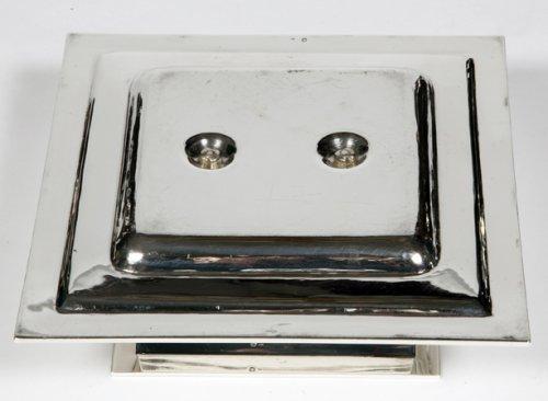 20th century - Silver sauceboat Art Deco by Tétard Frères