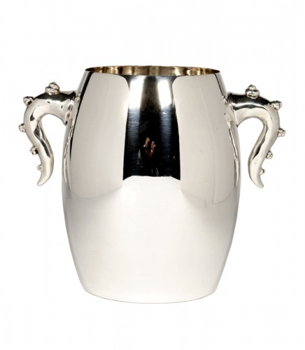 Cooler in solid silver, circa 1990, by Bonetti and Garouste