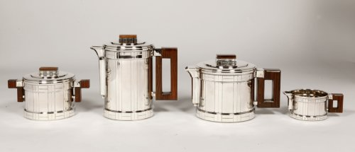Coffee tea set 4 pieces, Art deco, by Roussel