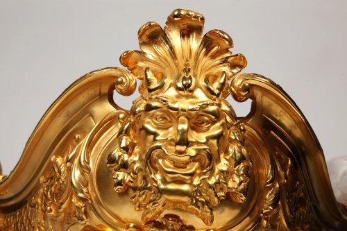 Antiquités - Jardiniere in gilt bronze, Napoléon the third