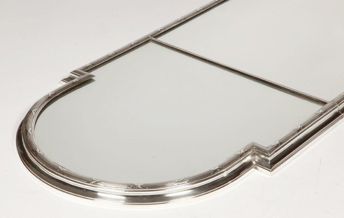 surtout de table en bronze argent fin xixe par l 39 orf vre christofle. Black Bedroom Furniture Sets. Home Design Ideas