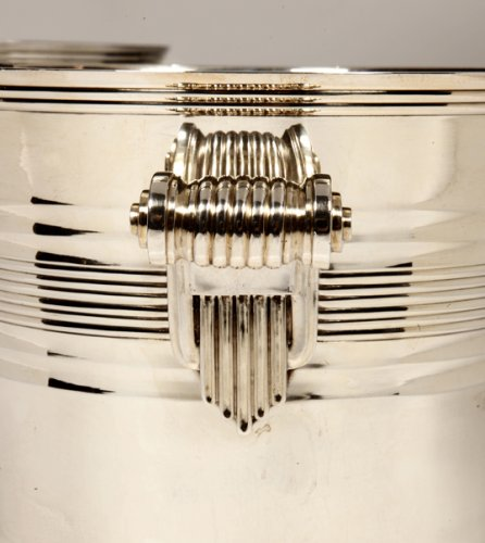 Art Déco - Goldsmith BOIN TABURET - Pair of coolers in solid silver Art Deco period