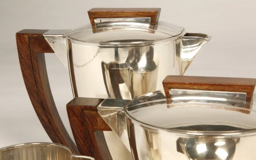 Antiquités - Tea coffee set in silver, Moderniste style