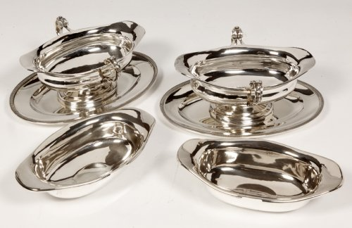 Antique Silver  - Pair of silver sauceboats, 20th, by Tétard