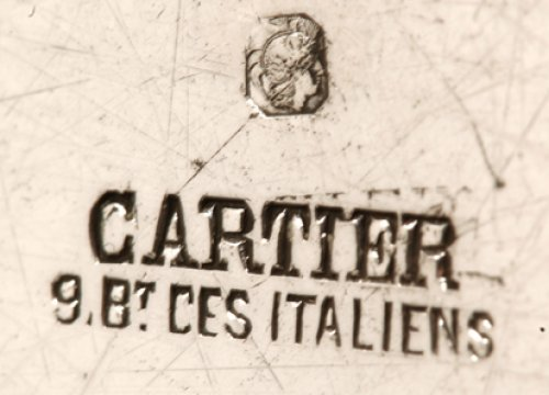 20th century - Round tray in silver - XXth - by Cartier