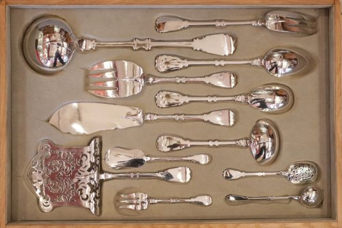 Cutlery set in silver, 237 pieces, by R. Linzeler