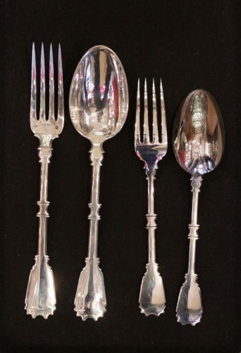20th century - Cutlery set in silver, 237 pieces, by R. Linzeler