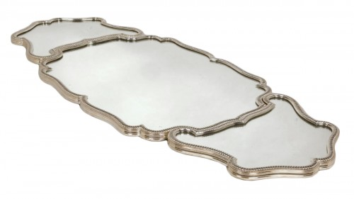 Mirror plateau in silvered bronze - Early XXth - by Risler et Carré