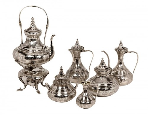 Ottoman tea/coffee set  by Duponchel, - XIXth