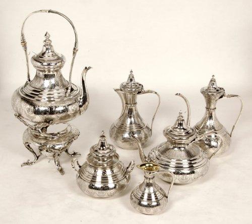Ottoman tea/coffee set  by Duponchel, - XIXth - Antique Silver Style Napoléon III