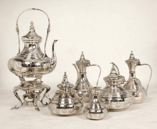 Antique Silver  - Ottoman tea/coffee set  by Duponchel, - XIXth