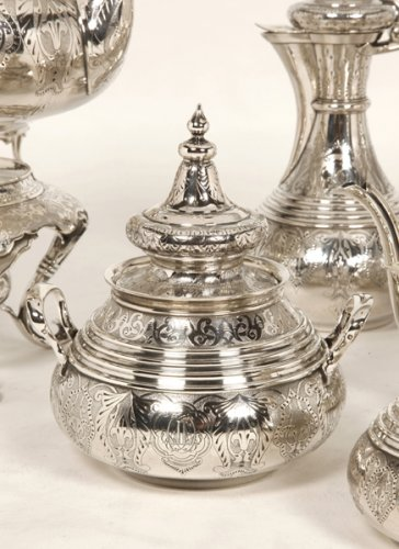 19th century - Ottoman tea/coffee set  by Duponchel, - XIXth